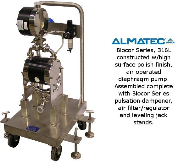 Almatec Pump on Cart