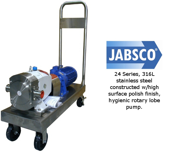 Jabsco 24 Sanitary Pump on Cart
