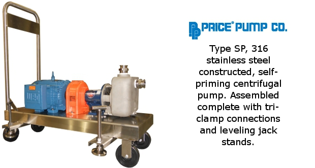 Price Self Priming Pump on Cart