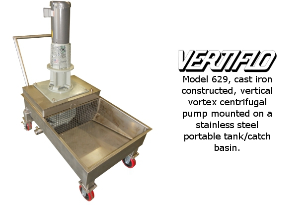Vertiflo Pump on Portable Catch Basin