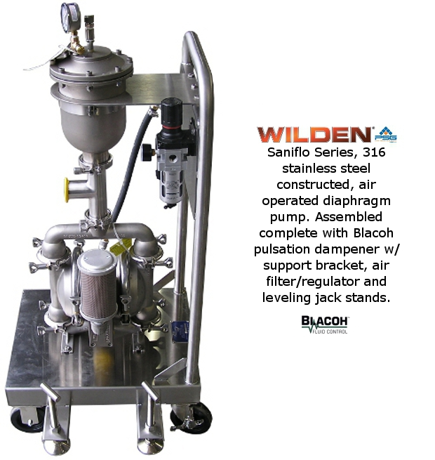 Wilden P2 Saniflo with Dampener