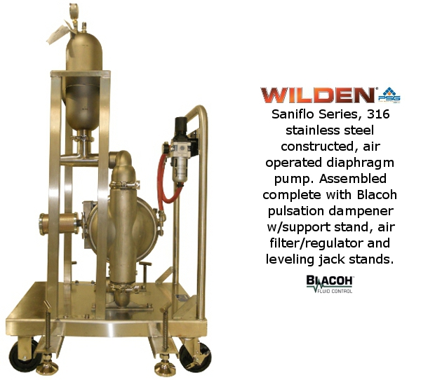 Wilden Saniflo with Dampener on Cart